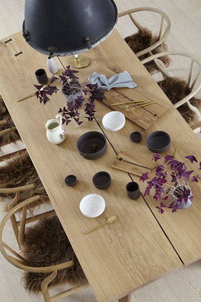 Plankebord set oppefra