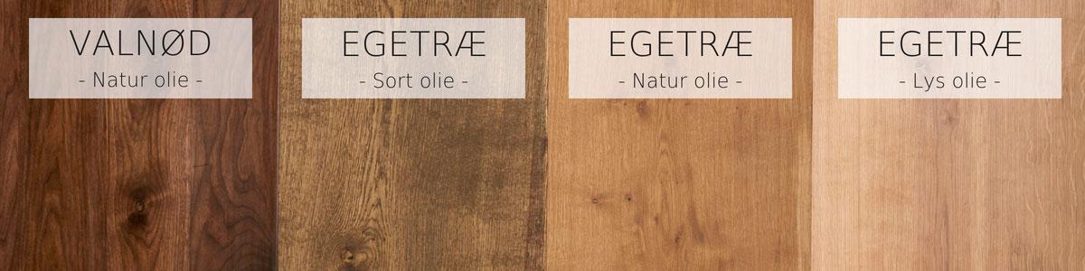 Forskellige typer olieringer du kan vælge til dit plankebord