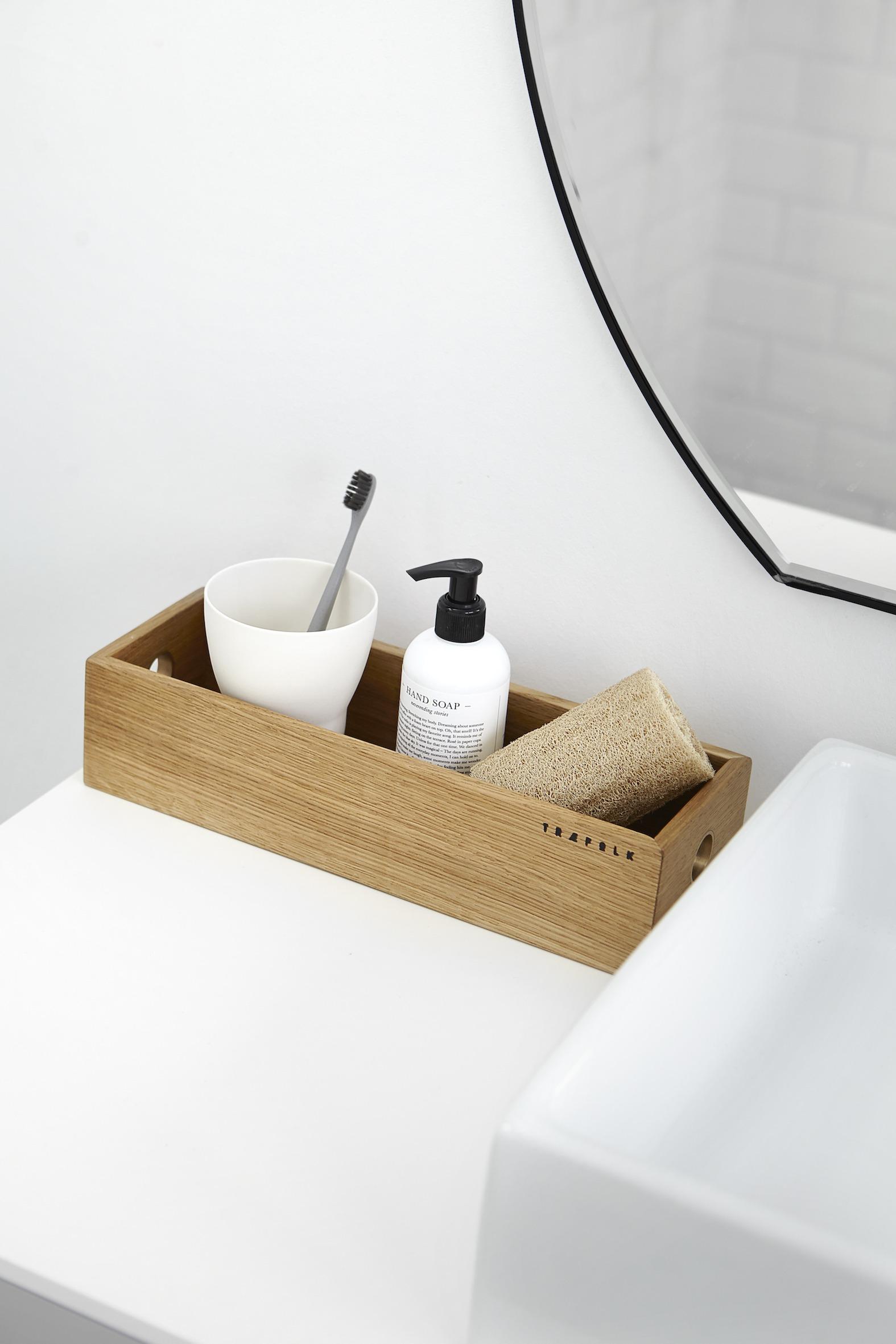 Opbevaringsbakke på badeværelset