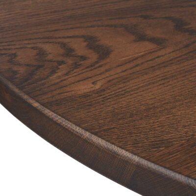Smukt rundt egetræs plankebord fra træfolk
