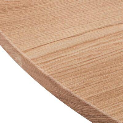Elegant rundt plankebord i egetræ fra Træfolk