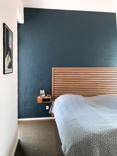 Akustikpaneler med afslutningsliste til sengegavl fra Træfolk