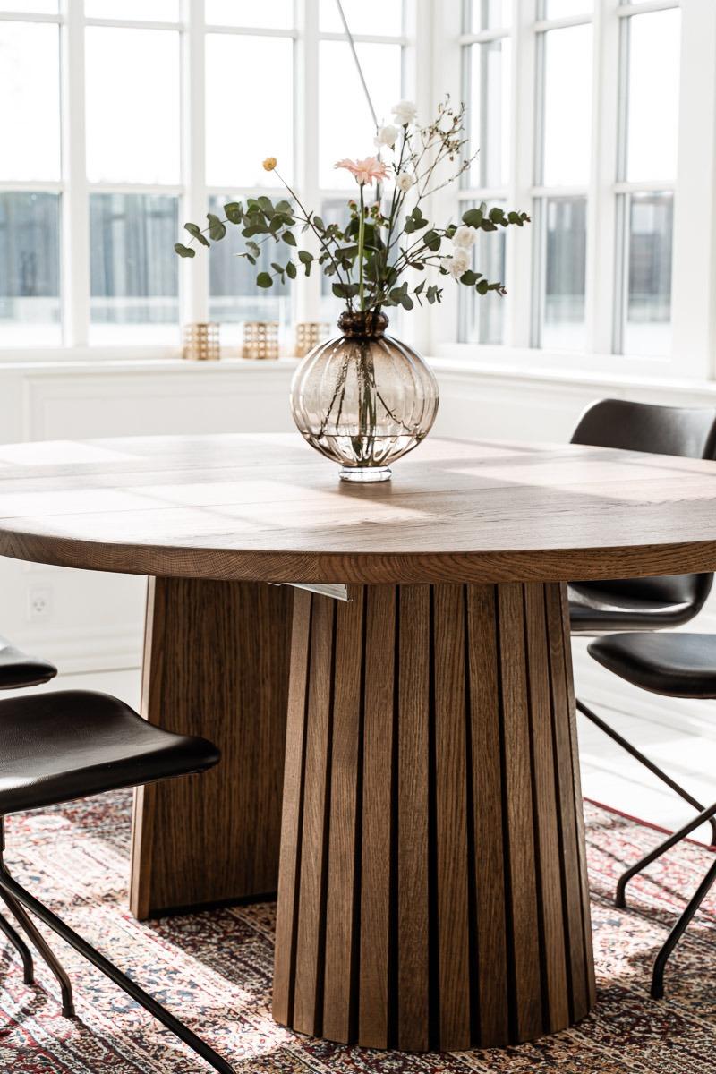 Rundt plankebord med udtræksplade fra Træfolk
